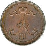 Suomi 1891 10 Penniä KL6-7