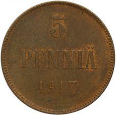 Suomi 1917 5 Penniä I KL6-7