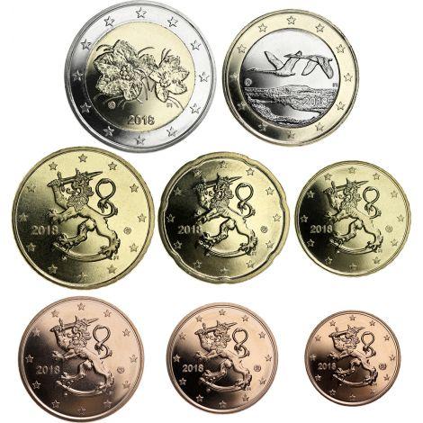 Suomi 2018 1 c - 2 € Irtokolikot UNC