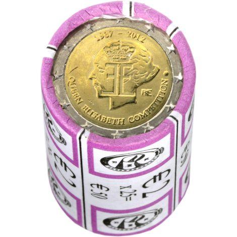 Belgia 2012 2 € Kuningatar Elisabeth -musiikkikilpailu 75 vuotta RULLA