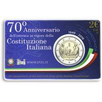 Italia 2018 2 € Perustuslaki 70 vuotta COINCARD
