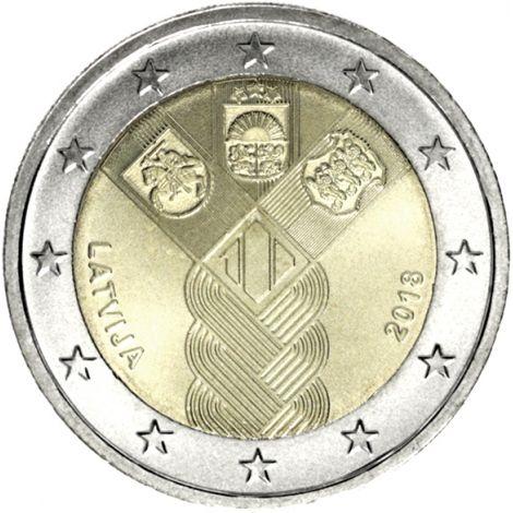 Latvia 2018 2 € Baltian maat 100 vuotta UNC