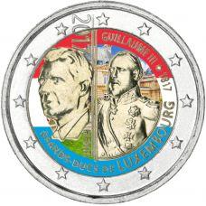 Luxemburg 2017 2 € Guillaume III 200 vuotta VÄRITETTY