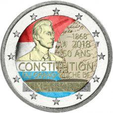 Luxemburg 2018 2 € Perustuslaki 150 vuotta VÄRITETTY
