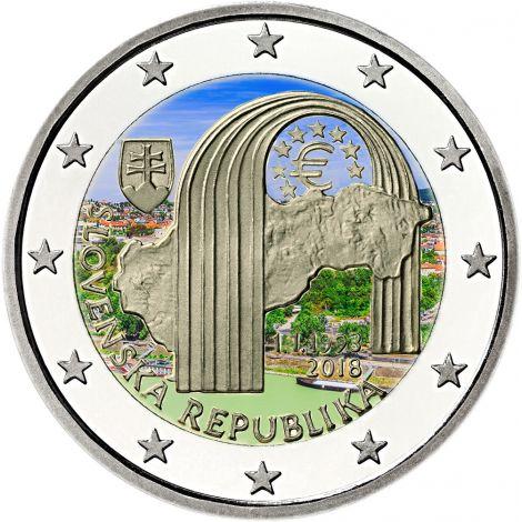 Slovakia 2018 2 € Tasavalta 25 vuotta VÄRITETTY