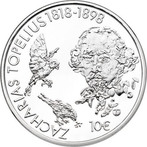 Suomi 2018 10 € Topelius 200 vuotta HOPEA PROOF