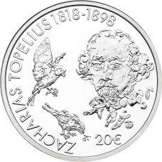 Suomi 2018 20 € Topelius 200 vuotta HOPEA PROOF