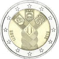 Viro 2018 2 € Baltian maat 100 vuotta UNC