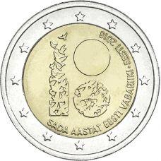 Viro 2018 2 € Itsenäisyys 100 vuotta UNC