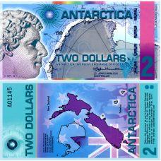 Antarctica 2014 2 Dollar P31 UNC