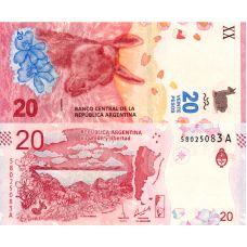 Argentiina 2017 20 Pesos P361 UNC