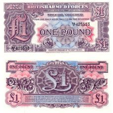 Britannian asevoimat 1948 1 Pound PM22a UNC
