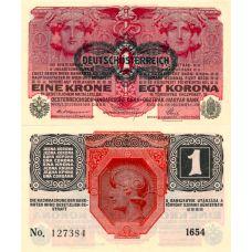 Itävalta 1916 1 Krone P49 UNC
