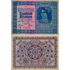 Itävalta 1922 1000 Kronen P78 UNC