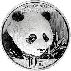Kiina 2018 10 Yuan Panda 1 Unssi HOPEA