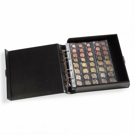 Keräilykansio, Leuchtturm OPTIMA Classic BOX - musta (310766)