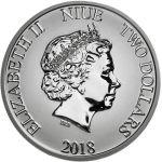 Niue 2018 2 Dollars Turtle 1 Unssi HOPEA