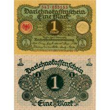 Saksa 1920 1 Mark P58 UNC