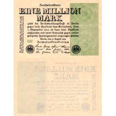Saksa 1923 1 000 000 Mark P102a UNC