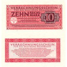 Saksa 1944 10 Reichsmark PM40 UNC