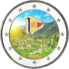 Andorra 2017 2 € Maa Pyreneillä VÄRITETTY