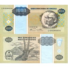 Angola 1995 1000 Kwanzas P135 UNC
