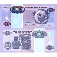 Angola 1995 100 000 Kwanzas P139 UNC