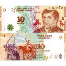 Argentiina 2016 10 Pesos P360 UNC
