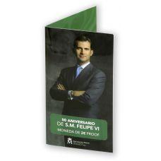 Espanja 2018 2 € Felipe VI 50-vuotispäivä PROOF