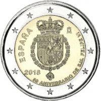 Espanja 2018 2 € Felipe VI 50-vuotispäivä UNC
