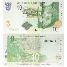 Etelä-Afrikka 2009 10 Rand P128b UNC