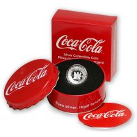 Fiji 2018 1 Dollar Coca-Cola pullonkorkki 6g HOPEA