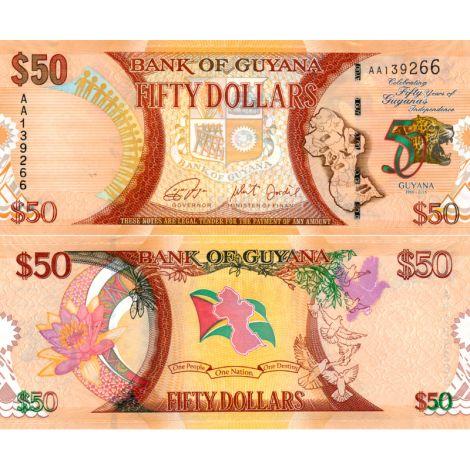 Guyana 2016 50 Dollars P41 UNC