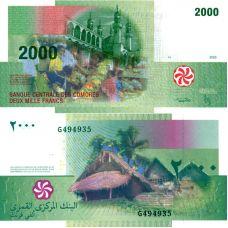 Komorit 2016 2000 Francs P17 UNC