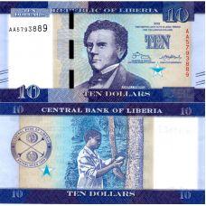 Liberia 2016 10 Dollars P32 UNC