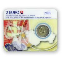 Slovakia 2018 2 € Tasavalta 25 vuotta COINCARD
