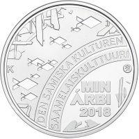 Suomi 2018 10 € Saamelaiskulttuuri HOPEA PROOF