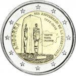 Andorra 2018 2 € Perustuslaki 25 vuotta COINCARD