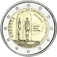 Andorra 2018 2 € Perustuslaki 25 vuotta BU