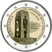 Andorra 2018 2 € Andorran perustuslain 25. juhlavuosi BU