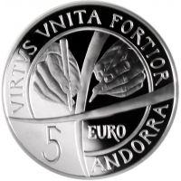 Andorra 2018 5 € Andorran perustuslain 25. juhlavuosi HOPEA PROOF