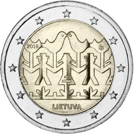 Liettua 2018 2 € Laulu- ja tanssijuhla UNC