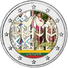 Liettua 2018 2 € Laulu- ja tanssijuhla VÄRITETTY