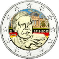 Saksa 2018 2 € Helmut Schmidt VÄRITETTY