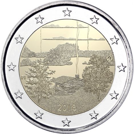Suomi 2018 2 € Suomalainen saunakulttuuri UNC