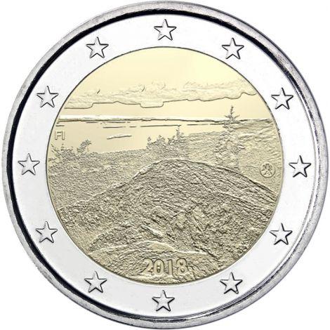 Suomi 2018 2 € Suomalaiset kansallismaisemat Koli UNC