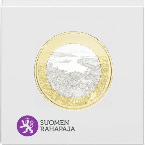 Suomi 2018 5 € Kansallismaisemat - Merellinen Helsinki PROOF