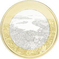 Suomi 2018 5 € Kansallismaisemat - Merellinen Helsinki UNC