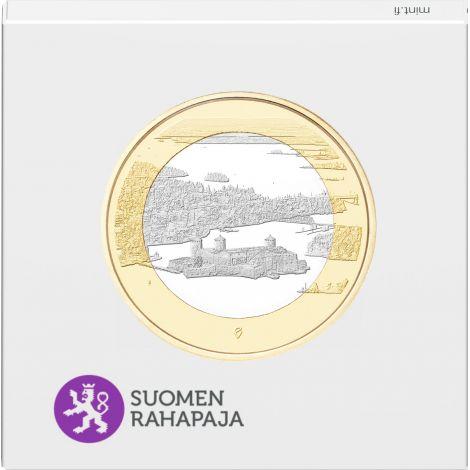 Suomi 2018 5 € Kansallismaisemat - Olavinlinna ja Pihlajavesi PROOF