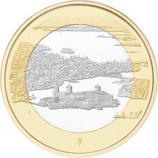 Suomi 2018 5 € Kansallismaisemat - Olavinlinna ja Pihlajavesi UNC